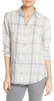 PJ Salvage Women's Plaid Cotton Twill Shirt