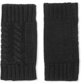 Autumn Cashmere Cable-Knit Cashmere Fingerless Gloves