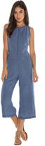 Bella Dahl Tie Back Crop Jumpsuit-Washed Indigo-XS