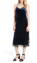 Chelsea28 Women's Lace Trim Velvet Slipdress