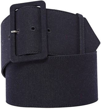 Christian Dior Navy Cloth Belts