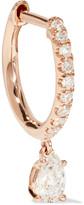 Anita Ko Huggy 18-karat Rose Gold Diamond Earring - one size