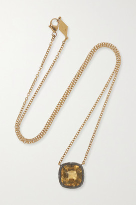 Fred Leighton Collection Silver-topped 18-karat Gold Citrine Necklace - Yellow