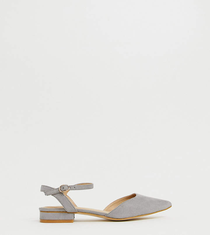 Myla Raid Wide Fit RAID Wide Fit grey ankle strap flat shoes