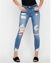 Express petite mid rise stretch+ performance ankle jean leggings