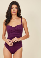 ModCloth Summer in the Sizzle One-Piece Swimsuit in Plum in 12