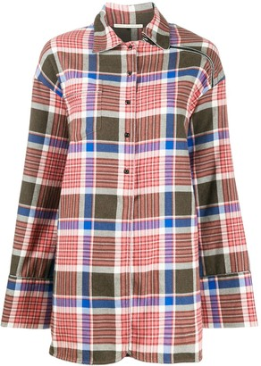 Marco De Vincenzo check-print oversized shirt
