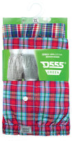 Yours Clothing D555 2 PACK Check Boxer Shorts