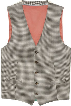 Gucci Houndstooth wool formal vest
