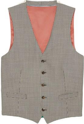 Gucci Houndstooth wool formal vest