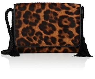 Barneys New York Women's Calf Hair Strap Wallet - Lt. brown