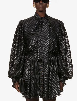 Balmain Metallic jacquard mini dress