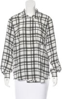 Marissa Webb Plaid Long Sleeve Top