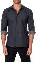 Jared Lang Paisley Long Sleeve Trim Fit Shirt