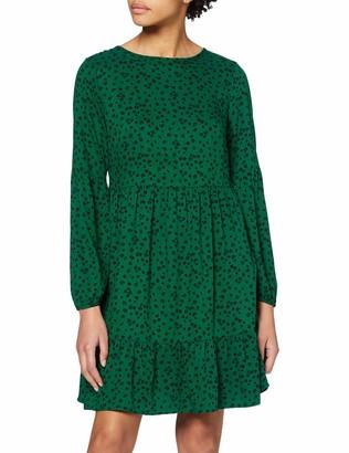 Dorothy Perkins Women's Green Abstract Print Smock Dress 14