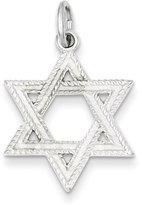 1928 Gold and Watches Sterling Silver Satin Star of David Charm