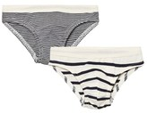 Petit Bateau 2 Pack of Navy and Cream Stripe Briefs