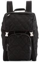 Prada Tessuto Quilted Utilitarian Backpack, Black