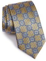Ermenegildo Zegna Men's Medallion Woven Silk Tie