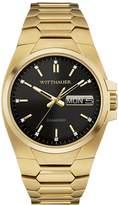 Wittnauer Men's Gold Tone Steel Bracelet & Case Quartz Dial Analog Watch WN3059