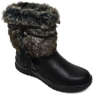 Minnetonka Women's Faux Fur Cuffed Boots - Everett
