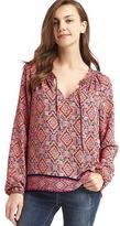 Gap Tile print smock blouse