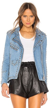 Understated Leather Studded Western Moto Jacket
