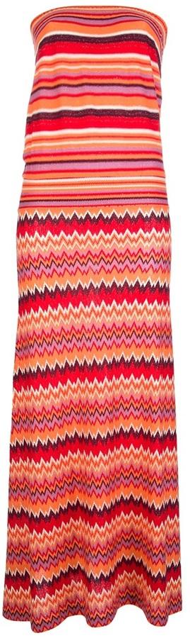 Tsumori Chisato strapless striped maxi dress
