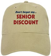 """CafePress - Don't Forget My Senior Discount"""" - Baseball Cap with Adjustable Closure, Unique Printed Baseball Hat"""