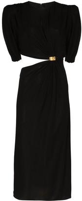 Versace Cutout Sculptural Mid-Length Dress