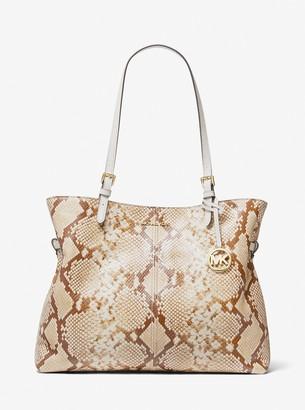 MICHAEL Michael Kors Lenox Large Python Embossed Leather Tote Bag