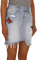 Articles of Society Denim Skirt with patches