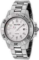 Sector R3253240045 44mm Silver Steel Bracelet & Case Acrylic Men's Watch