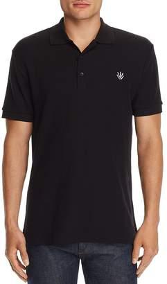 Rag & Bone Embroidered Dagger Regular Fit Piqué Polo Shirt