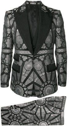 Dolce & Gabbana Jacquard Three-Piece Suit