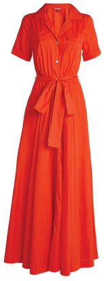 STAUD Millie Maxi Shirt Dress