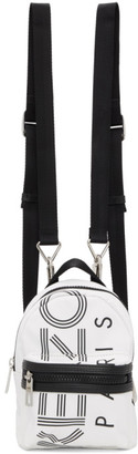 Kenzo White Mini Crew Backpack