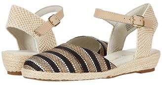 David Tate Juno (Black Striped Fabric) Women's Shoes