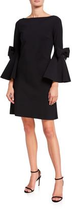 Chiara Boni Bell-Sleeve A-Line Short Dress