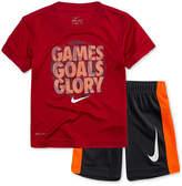 Nike 2-Pc. Games-Print T-Shirt & Shorts Set, Little Boys