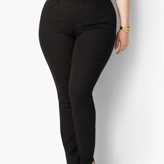 Talbots Plus Size High-Waist Straight-Leg Jeans - Black