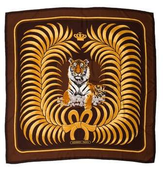 Hermes Tigre Royal Cashmere Silk Shawl