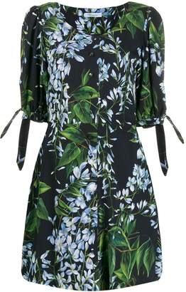 Blumarine foliage floral print dress