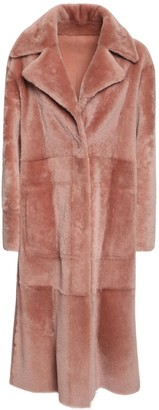 Drome Reversible Shearling Long Coat