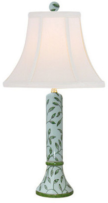 East Enterprises Inc Garden Vines Porcelain Table Lamp