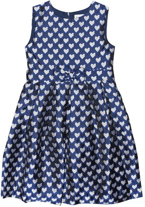 Rachel Riley Heart jacquard dress