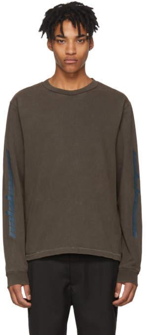 Yeezy Grey Long Sleeve Calabasas T-Shirt