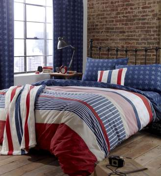 Catherine Lansfield Stars and Stripes Duvet Set