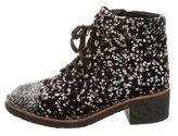 Chanel Bouclé Ankle Boots