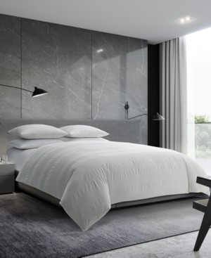 Vera Wang Waffle Stripe Queen Comforter Set Bedding